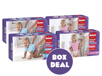 Huggies Ultra Dry Nappy-Pants BOX DEAL