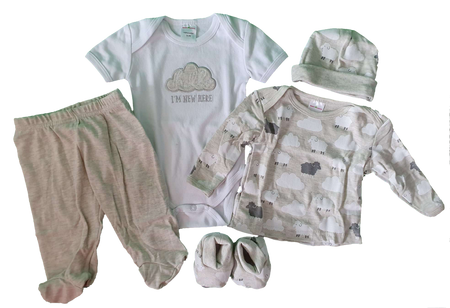 Sweet Cheeks 5 Piece Clothing Gift Set - GREY SHEEP