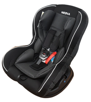 Neeva Convertible Carseat 0-18kgs : BLACK/DOTS