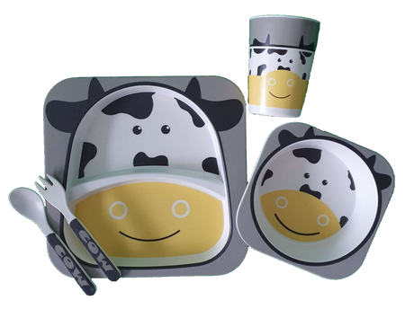 Bamboo Dinner Set - COW - Babyonline