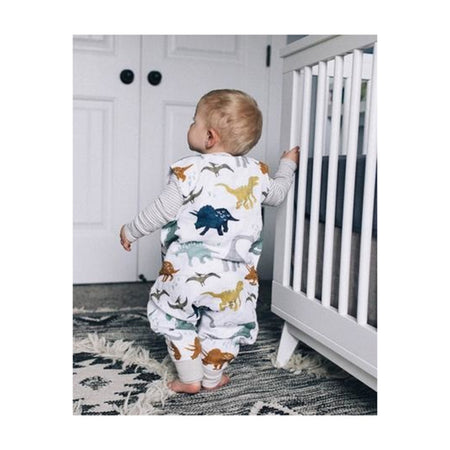 Little Unicorn Cotton Muslin Sleep Romper - Dino Friends