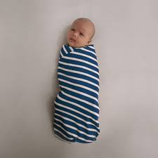 Woolbabe Merino/Organic Cotton swaddle/blanket MIDNIGHT - Babyonline