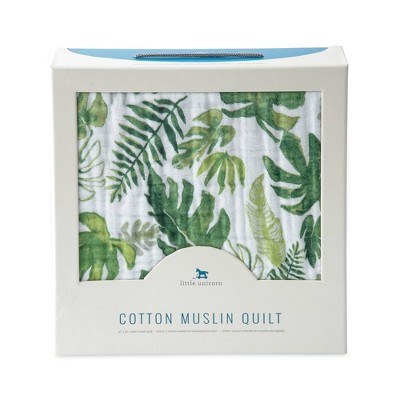 Little Unicorn Muslin Quilt - Tropical Leaf