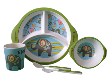 Bamboo Dinner Set - ELEPHANT - Babyonline