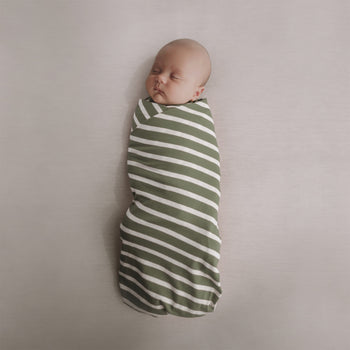 Woolbabe Merino/Organic Cotton swaddle/blanket FERN