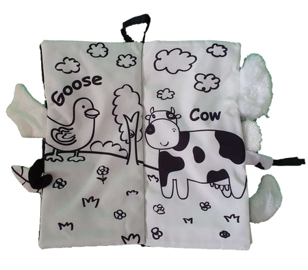 Material Book - FARM TAILS MONOCHROME - Babyonline