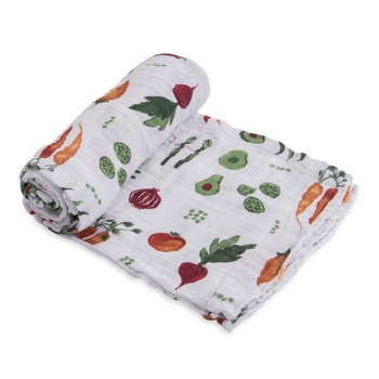 Little Unicorn Single Muslin Swaddle - Farmers Market