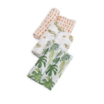 Little Unicorn 3 Pack Cotton Muslin Swaddle - Gators