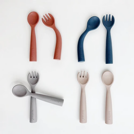 Haakaa Bendy Silicone Cutlery Set