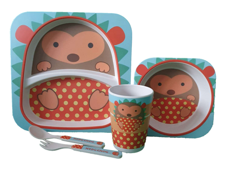 Bamboo Dinner Set - HEDGEHOG - Babyonline
