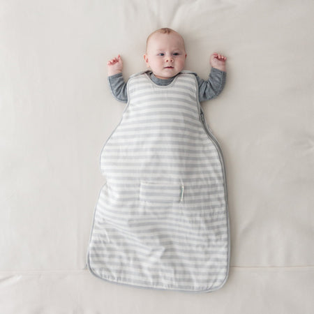 Woolbabe Mini DUVET 0-9 Months Side Zip Sleeping Bag - PEBBLE