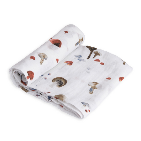 Little Unicorn Single Muslin Swaddle - Mushroom