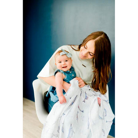Little Unicorn Single Muslin Swaddle - Narwhal
