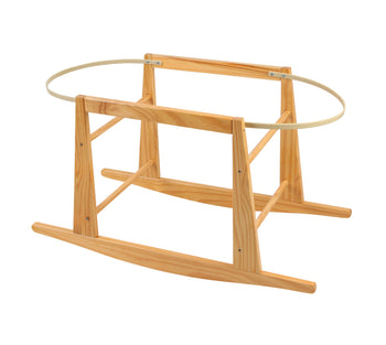 Wooden Stand for Moses Basket - Rocking NATURAL