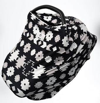 Neeva 4 in 1 Infant Capsule Cover (Black-White Aztec ) - Babyonline
