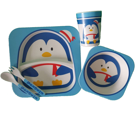 Bamboo Dinner Set - PENGUIN - Babyonline
