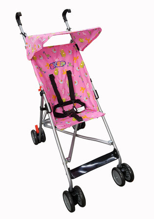 A6-SKEP Super Buggy - Pink/Animals - Babyonline