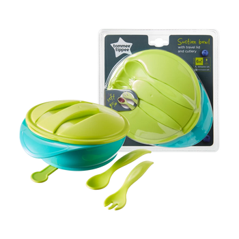 Tommee Tippee Suction Bowl With Lid & Cutlery - Babyonline