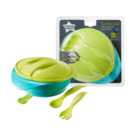 Tommee Tippee Suction Bowl With Lid & Cutlery