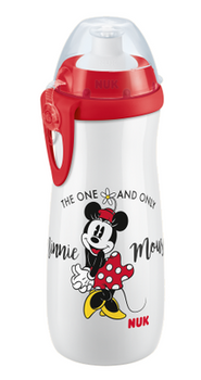 NUK Junior Cup - Push/Pull 450ml WHITE MINNIE - Babyonline