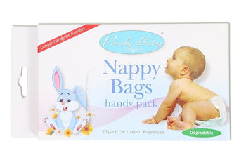 Purely Baby Nappy Bags - Pack of 50 bags