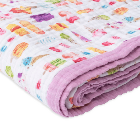Little Unicorn Big Kids Cotton Muslin Quilt - Brain Freeze