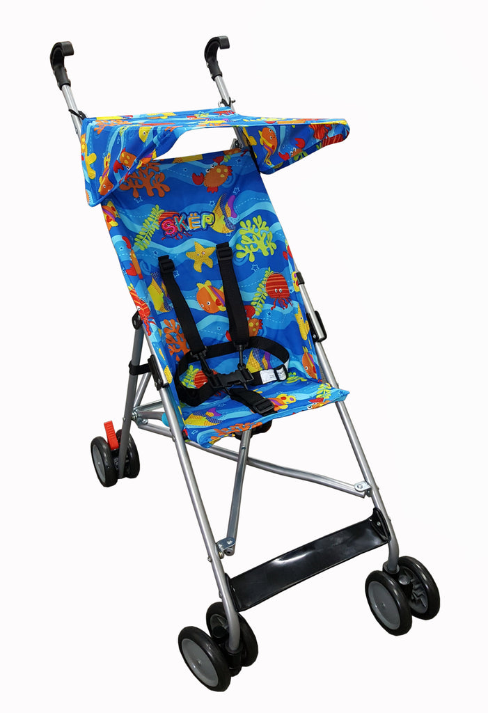Baby Online A6 Skep Super Buggy Blue Sea Creatures