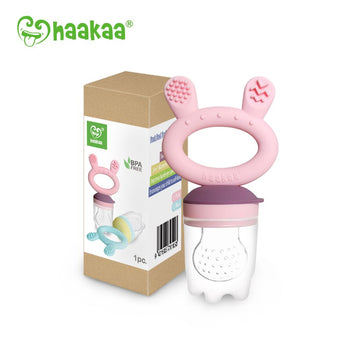 Haakaa - Fresh Food Feeder and Teether PINK - Babyonline