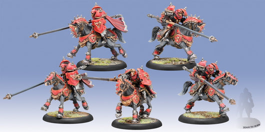 Privateer Press Warmachine: (Khador) Iron Fang Uhlans Cavalry Unit (5)