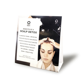 Oway Herbs & Clay (Scalp Detox) Table Tent