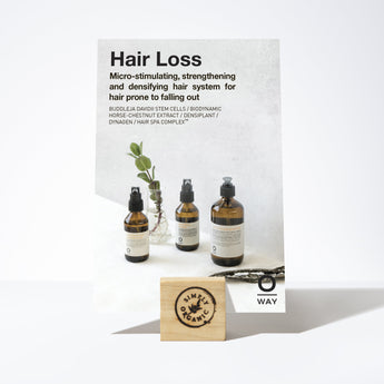 Oway Hair Loss Shelf Talker Promo Card