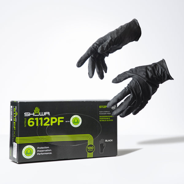 SHOWA Eco-Friendly Biodegradable Salon Service Gloves