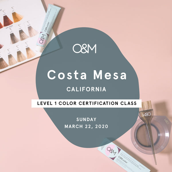 O&M Level 1 Certification Class: Costa Mesa, CA [Mar 22]