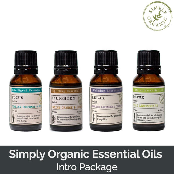 Simply Organic Essential Oils Intro Package (SAVE 7%)