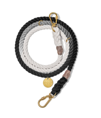 Black Ombre Rope Dog Leash - 7ft