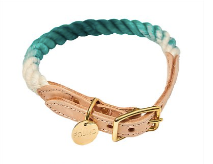 Team Ombre Rope and Leather Collar