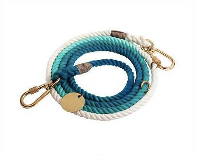 Teal Ombre Rope Dog Leash - 7ft