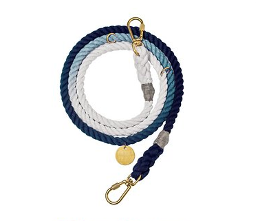 Indigo Ombre Rope Dog Leash - 7ft