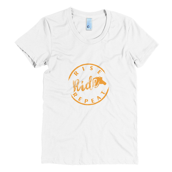 Ride, Rise, Repeat Tee (Orange logo)