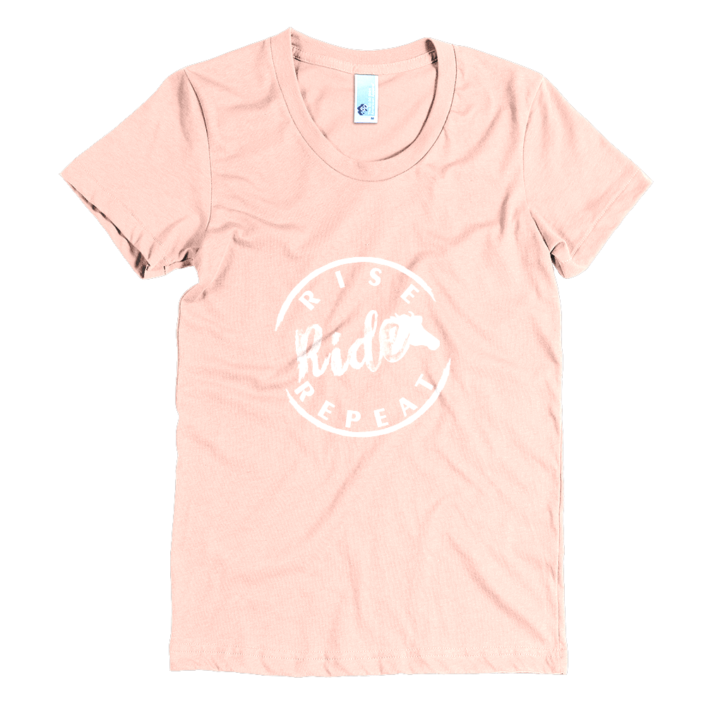 Rise, Ride, Repeat Tee (Peach)