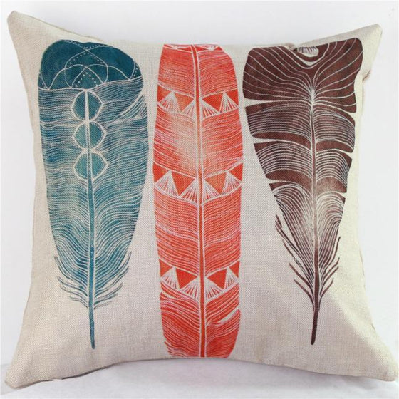 Pillow - Three Feathers Decorative Pillow