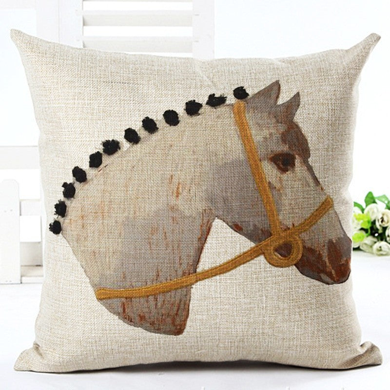 Hunter Pony Vintage Linen Pillow