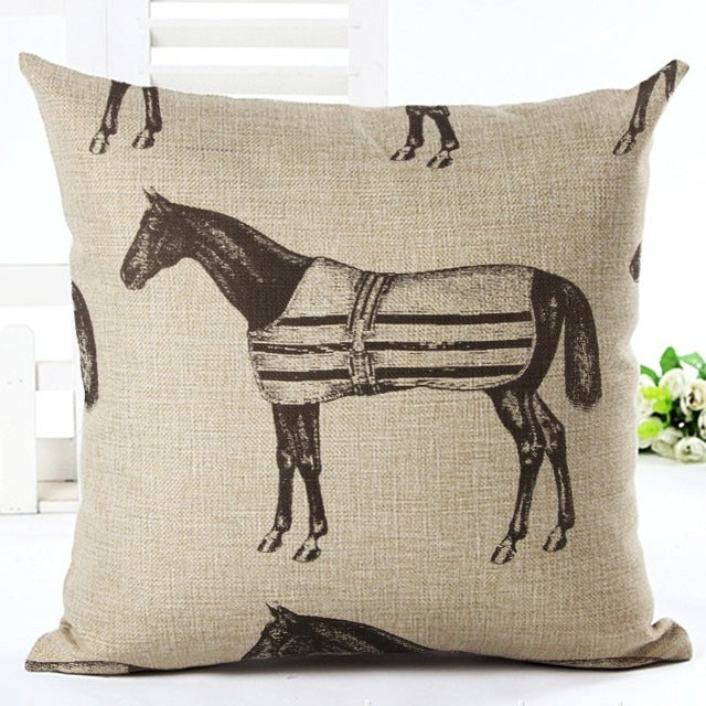 Stable Pony Vintage Linen Pillow