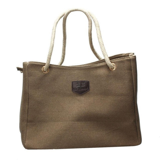Canvas Top Handle Tote Bag