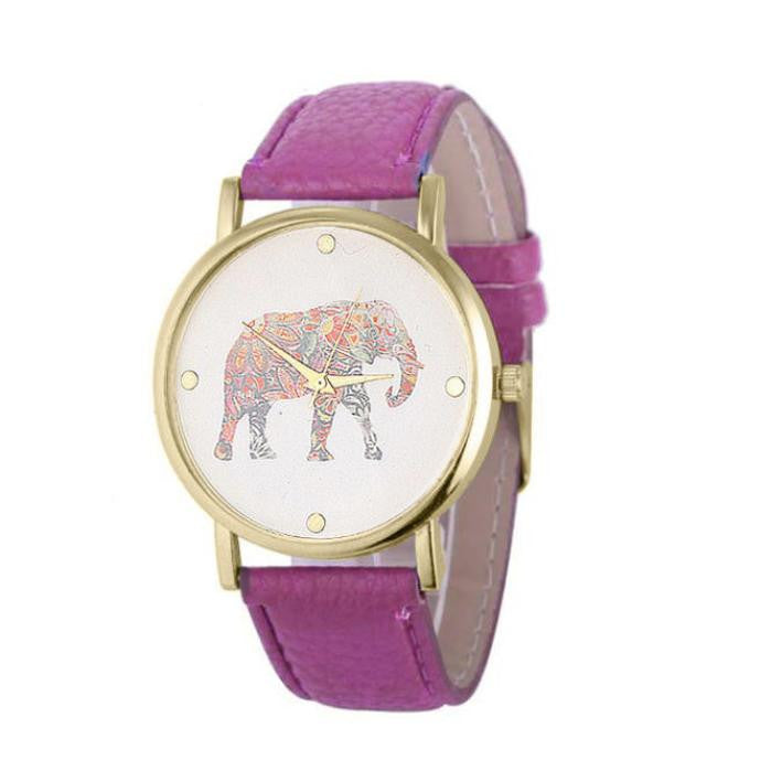African Elephant Quartz Watch