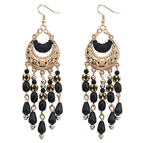Bold Beaded Ear Drops