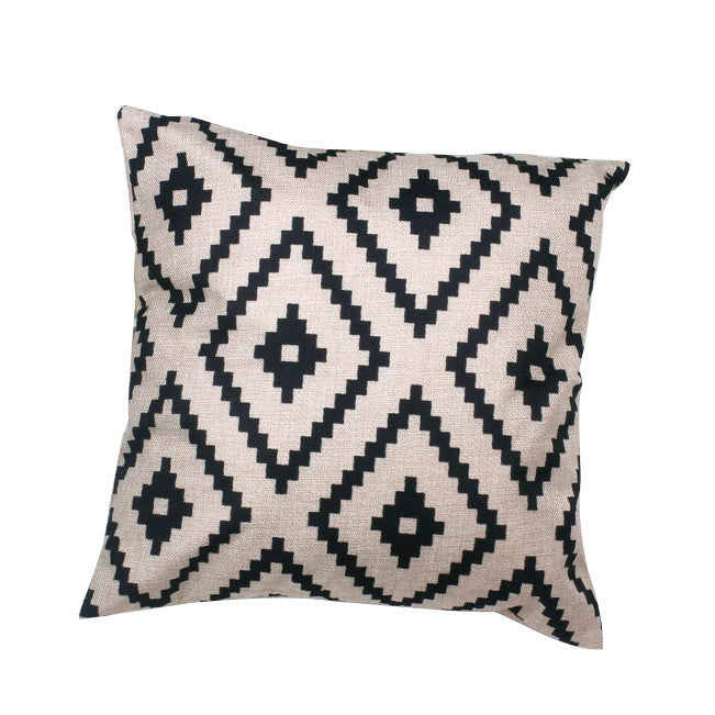 Argyle Linen Throw Pillow