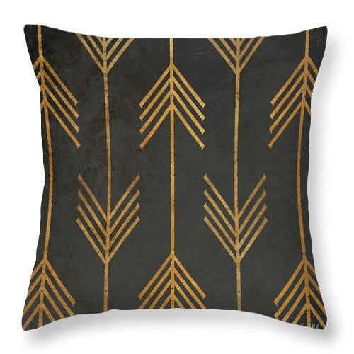 Gold Arrow Throw Pillow