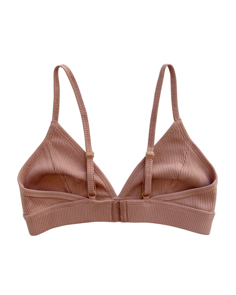 Dear Dylan Ribbed Bralette Cameo Brown
