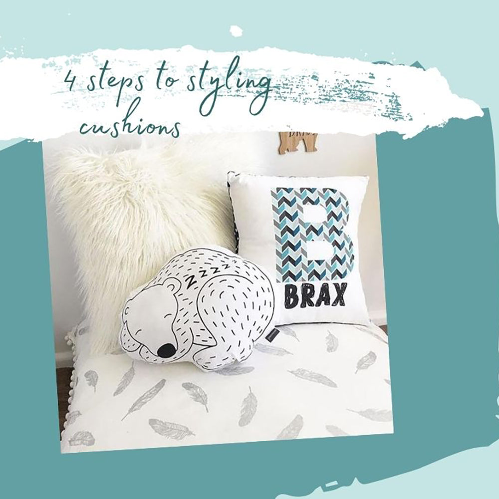 4 SIMPLE steps to styling cushions for the kids bedroom
